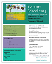 Summer 2015 Courses Offered